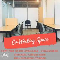 Part-Time Co-Working Space.