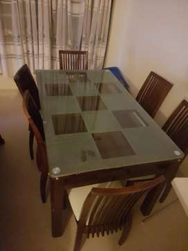 6 Seater Sofa Set A Glass Dinning Table