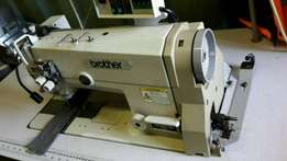 Brother twin needle fully auto sewing machine. Under bed trimmer auto