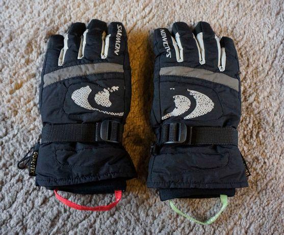 Rękawice Salomon Gore Tex czarne narciarskie dł. 23,5cm