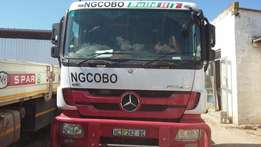 2013 Mercedes Benz Actros 3350 with 2007 Afrit Tarpaulin Superlink