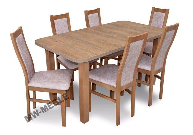 Tanio Stół Rozkładany 6 Krzeseł Dąb Lefkas Bogata Kolorystyka