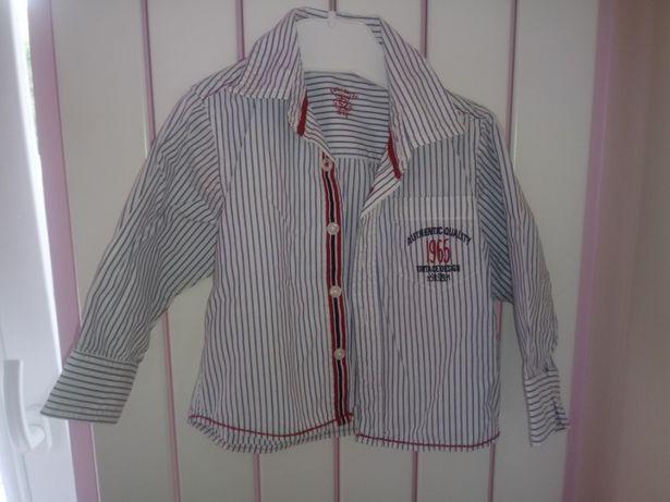 eb1cebd9248988 Koszula chłopięca Święta 74 / 80 elegancka dla chłopca długi rękaw Kłodawa  - image 1