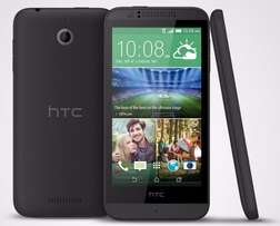 Clean HTC Desire 510 with Charger and Accessories