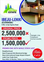 Cheapest C of O Land At Oxford Estate, Elerangbe, Ibeju Lekki