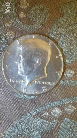 USA Silver Half Dollar Memorial for President John Kennedy year 1968
