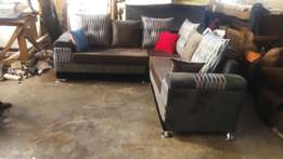 L sofa with double buttoned pillows at 769,000