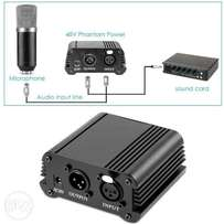 Microphone 48 volts power supply