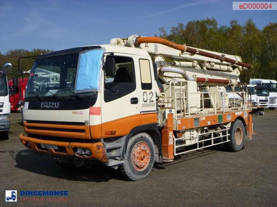 Isuzu CVR80K 4x2 concrete pump 19 m - 1997