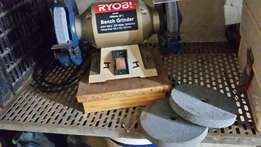 Ryobi Bench Grinder with extra