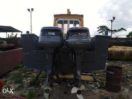 2 Used yamaha Outboard engine for Sale 115/140 hp Working condition