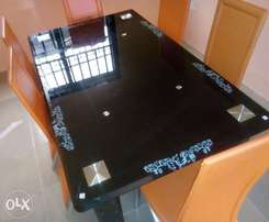 New trendy glass dining table by 6