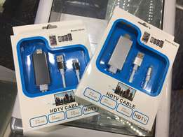 Apple iphone HDTV cast cable via HDMI