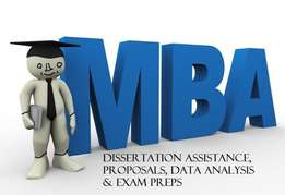 Dissertation Support and Assignments for MBA and Honors Students