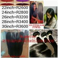 Easter specials, get free lace closure when u buy 3 bundles Brazilian