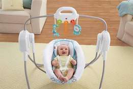 U.S Used Fisher-price Twinkling Spacesaver Baby Swing(fixed price)