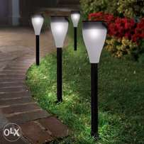 Colorful wireless led solar garden lights.