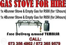 Gas stove for Hire