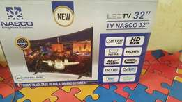 Nasco Curved Satellite TV 32 inches brand new in box