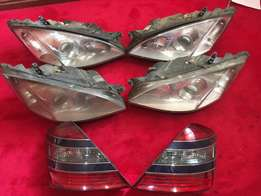 mercedes S 350 headlamp and tail indicators
