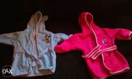 kiddies His and Hers Bathrobe