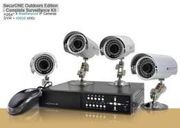 4 Camera Surveillance System,H264, 500GB- I102