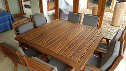 Patio 8 seater dining set