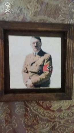 Adolf Hilter photo on Rock Square 15 cm length&15 cm width with Cadre