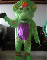 Brand new barney and friends mascot costume