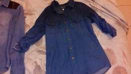 Girls or size Small ladies Denim shirts