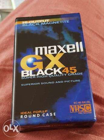 maxell VHS Camcorder Tape New