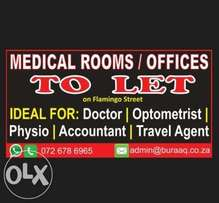 Medical Rooms / Professional Office TO LET in LENASIA