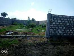 Wall fenced 40 by 80 plot, Bamburi