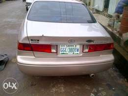 Clean Toyota Camry stoplight