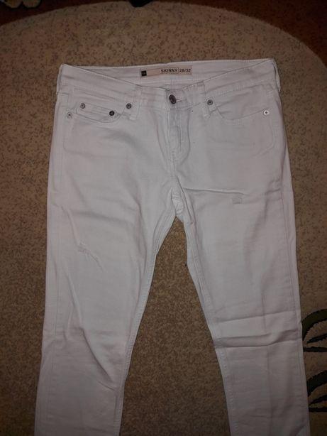 białe damskie spodnie olx