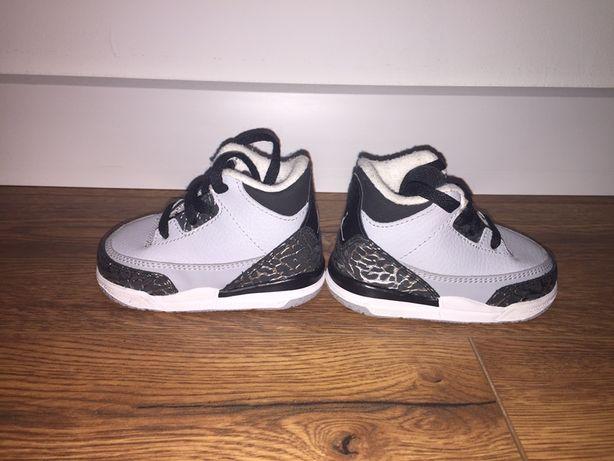 Jordan Nike Retro 3 Wolf Grey buty sportowe dziecięce 18,5 9
