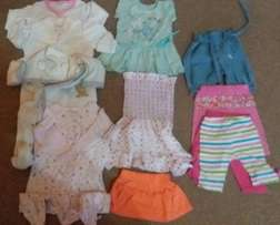 6 - 12 months baby clothes for girls 11 items for R180
