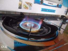 Double Stainless Steel Gas Burner with Electronic fire Ignition EB2401