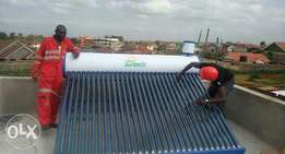 Solar water heater, smart door phone, electric fence and and Cctv
