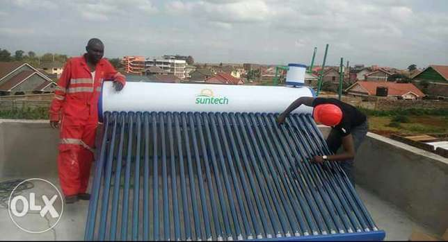Solar water heater, smart door phone, electric fence and and Cctv Nairobi CBD - image 1