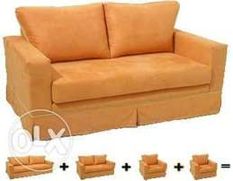 Box sofa set .available on oder in any colur combination. At 900000.