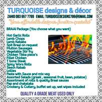 Braai, weddings, event's, function hire, catering, Halaal, decor