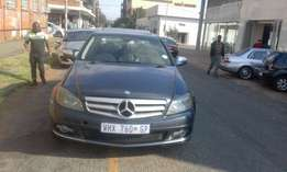 Mercedes benz C200 automatic 2008 model grey in color 85000km R158000