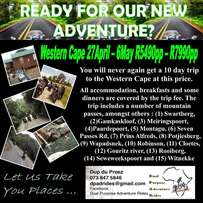 Bike Tours to the Western Cape from Vereeninging