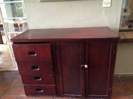 solid wooden cabinet/cupboard