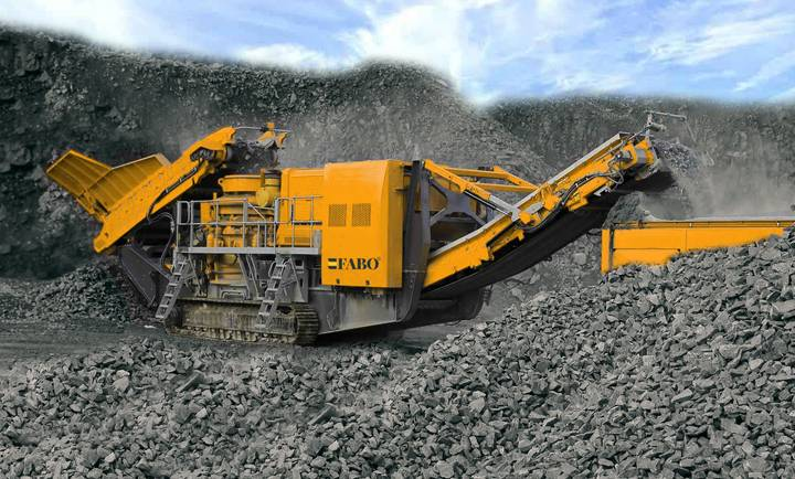 Fabo Tracked Vertical Shaft İmpact Crusher