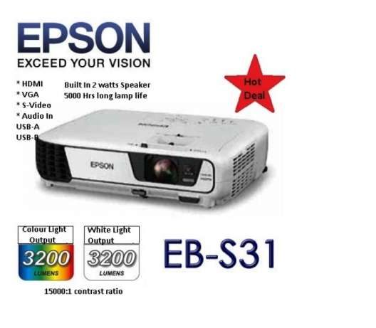 July Offer! Epson EB-S31 Projector.Was 45,000,Now 40,000 Nairobi CBD - image 3