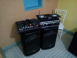 PA system & chivalry chairs for hire