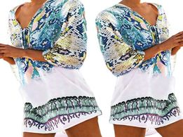 ddaad9962c8b90 PAREO plażowe letnia sukienka tunika zwiewna na lato boho L1621