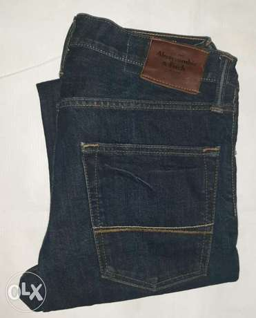 Abercrombie and Fitch straight jeans 31/30 from England.